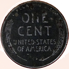 1943 D Wheat Cent - Reverse