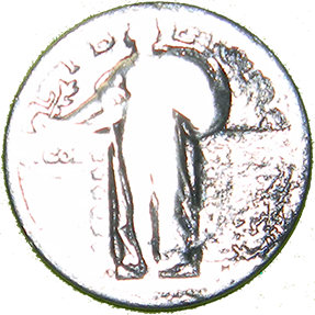 No Date Standing Liberty Quarter - Obverse