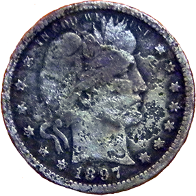1897 Barber Quarter - Obverse