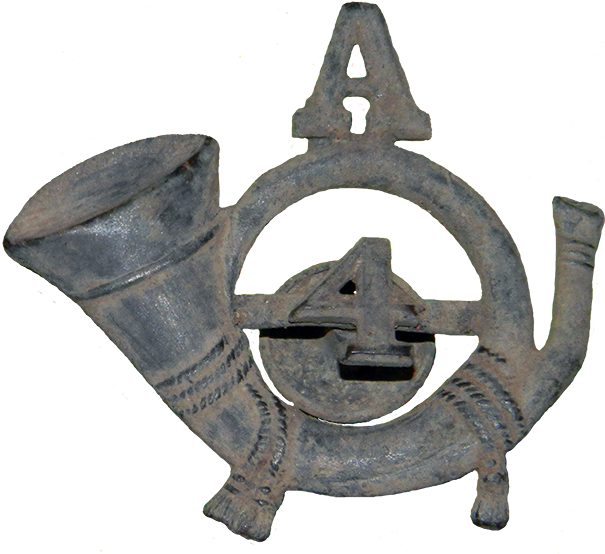 Company A 4th Infantry Hat Device