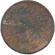 1881 Indian Head Cent - Obverse
