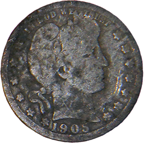 1905 Barber Quarter - Obverse