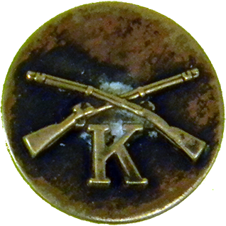 Company K Infantry Collar Disk