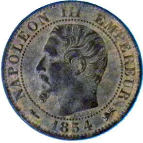 1854 French 5 Centime - Obverse