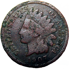 1907 Indian Head Cent - Obverse