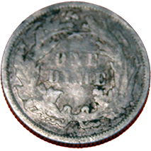 1873 Seated Liberty Dime - Reverse