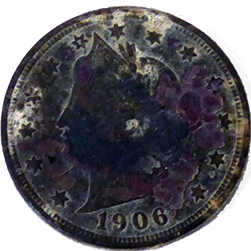 1906 V Nickel - Obverse