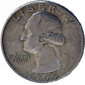 1964 D Washington Quarter - Obverse