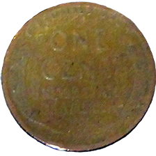 1929 Wheat Cent - Reverse
