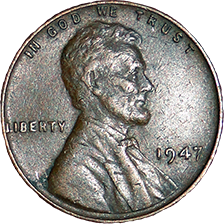 1947 Wheat Cent - Obverse