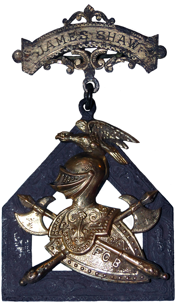 Gold and Silver Knights of Pythias Delegate Badge