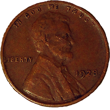 1928 Wheat Cent - Obverse