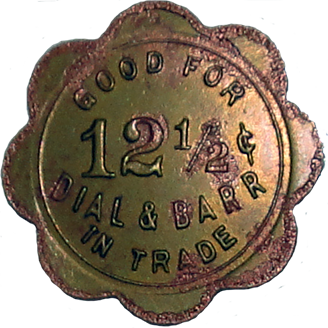 Dial and Barr Token - Obverse