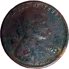 1925 S Wheat Cent - Obverse