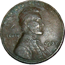 1937 Wheat Cent - Obverse