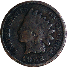 1888 Indian Head Cent - Obverse
