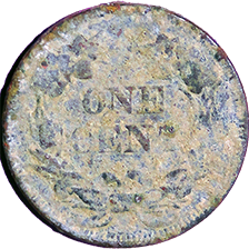 1857 Flying Eagle Cent - Reverse