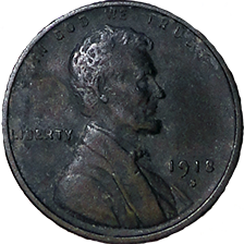 1918 S Wheat Cent - Obverse