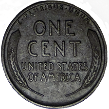 1918 S Wheat Cent - Reverse