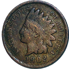 1902 Indian Head Cent - Obverse