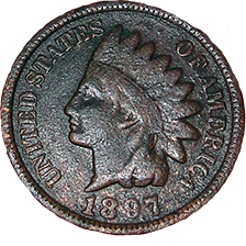 1897 Indian Head Cent - Obverse