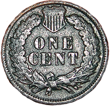 1897 Indian Head Cent - Reverse