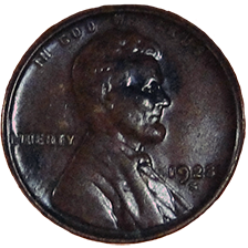 1923 S Wheat Cent - Obverse