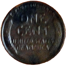1923 S Wheat Cent - Reverse