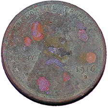 1916 S Wheat Cent - Obverse