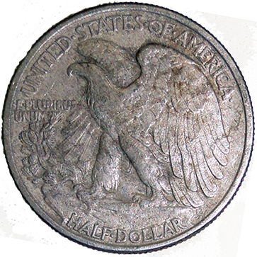 1942 Walking Liberty Half - Reverse