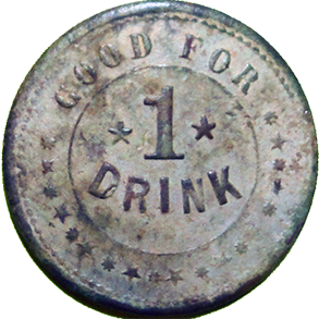 Benson and Stewart Saloon Token - Reverse
