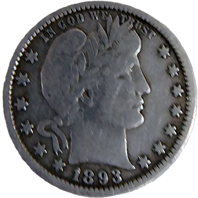1893 Barber Quarter - Obverse