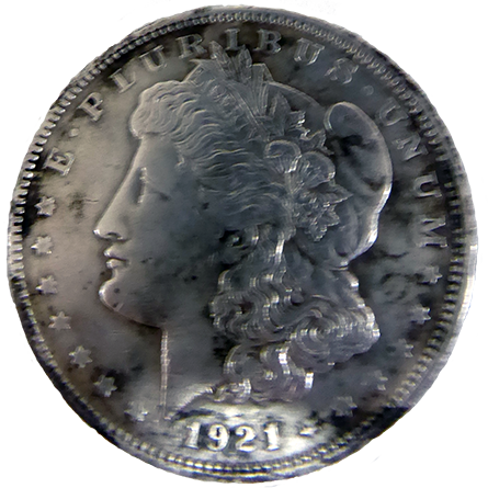1921 D Morgan Dollar - Obverse
