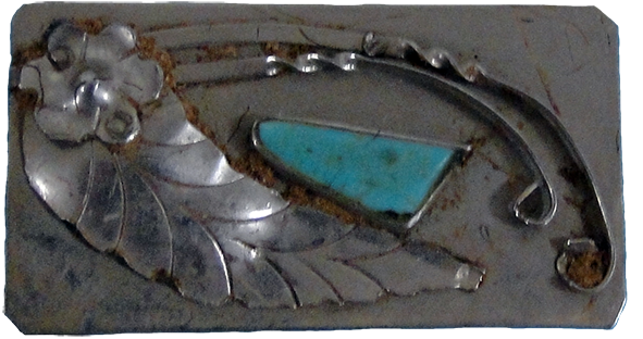 Turquoise and Silver Money Clip
