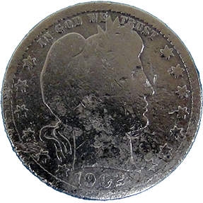 1902 Barber Quarter - Obverse