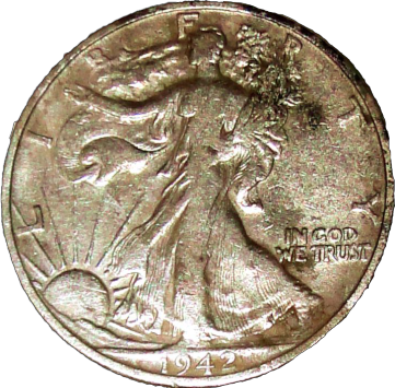 1942 S Walking Liberty Half - Obverse