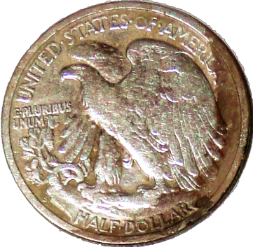1942 S Walking Liberty Half - Reverse