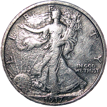 1917 Walking Liberty Half - Obverse