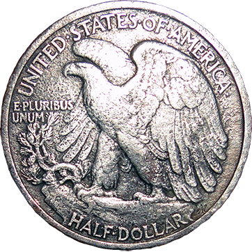 1917 Walking Liberty Half - Reverse
