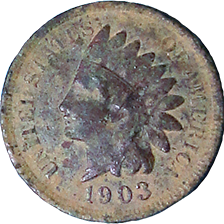 1903 Indian Head Cent - Obverse