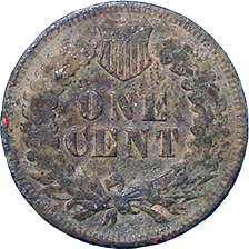 1903 Indian Head Cent - Reverse