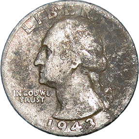 1943 D Washington Quarter - Obverse