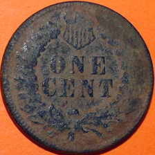 1872 Indian Head Cent - Reverse